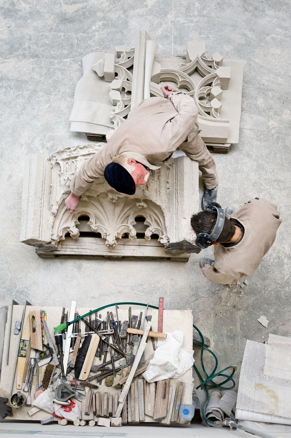 Rouen (76) : les tailleurs de pierre de la cathédrale de Rouen