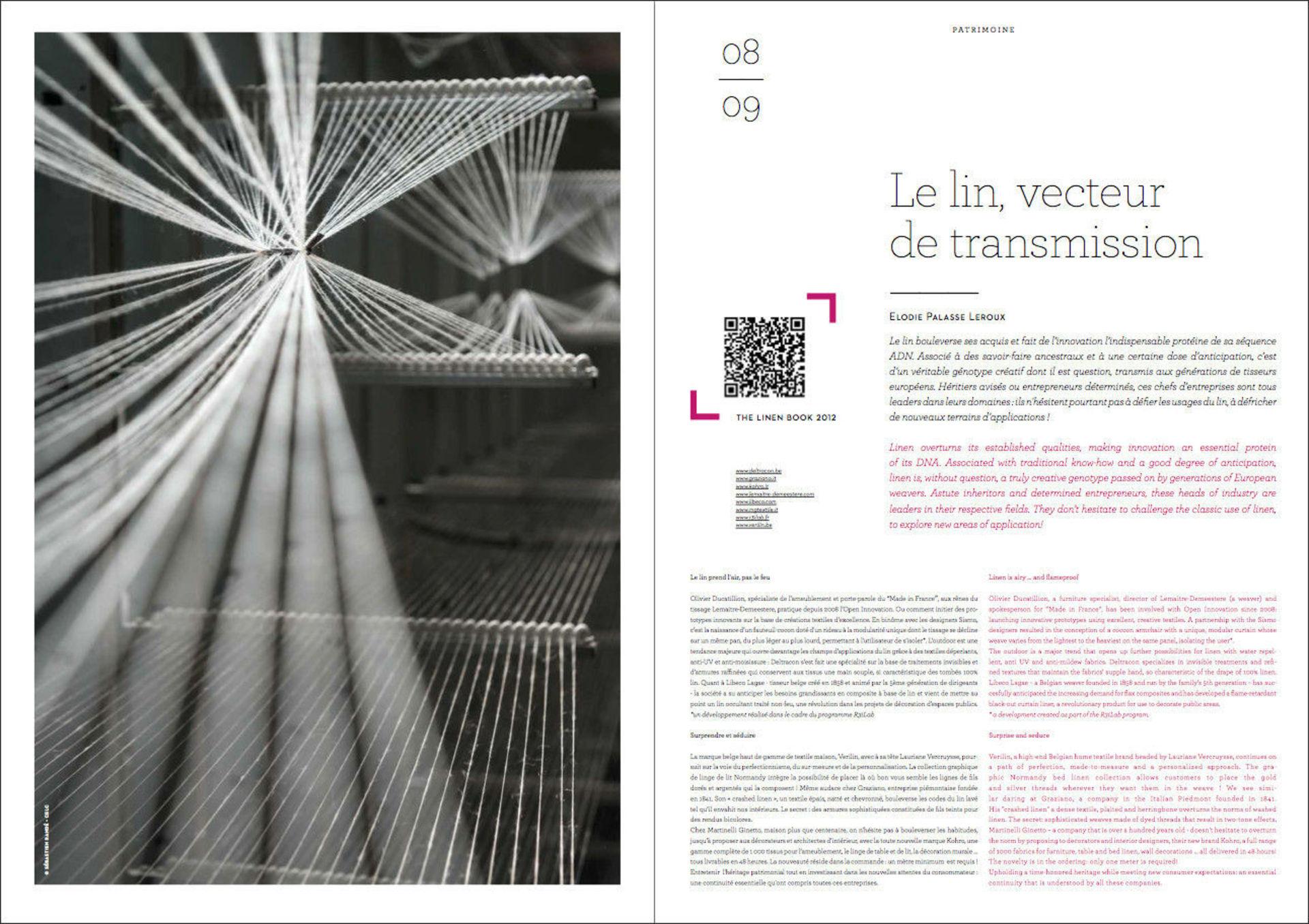 Magazine de la Confédération Européenne du Lin et du Chanvre (CELC) Septembre 2013. Photo : Sébastien Randé