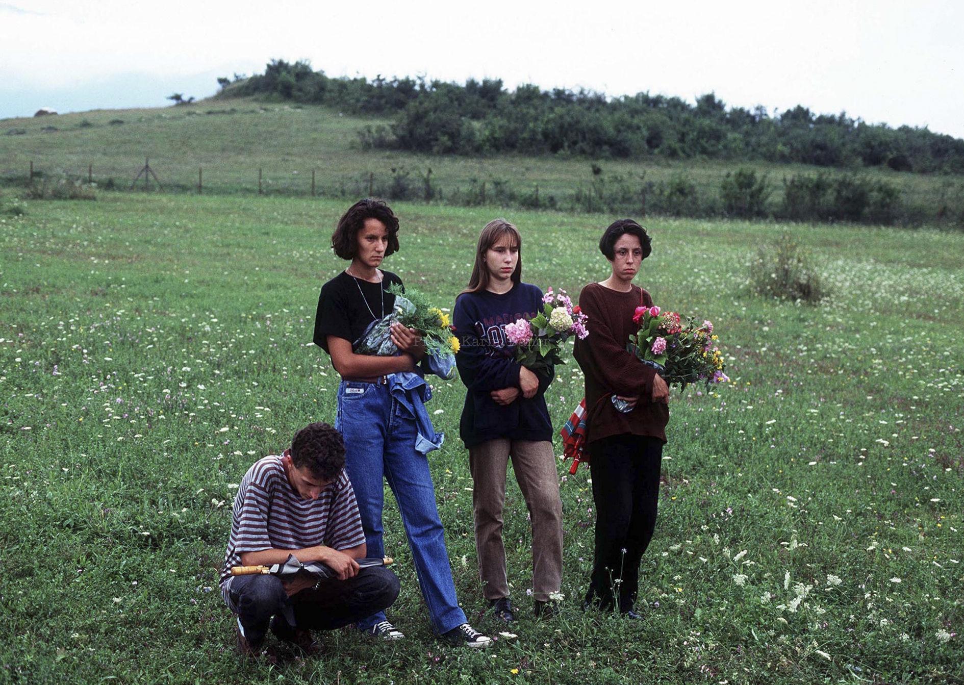 Bosnie, Bihac, été 1995. Obsèques d'un jeune soldat bosniaque.