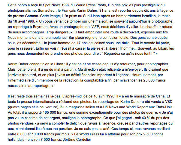 "In ""Le Point"", Septembre 1997, extrait d'un article de Jérôme Cordelier."