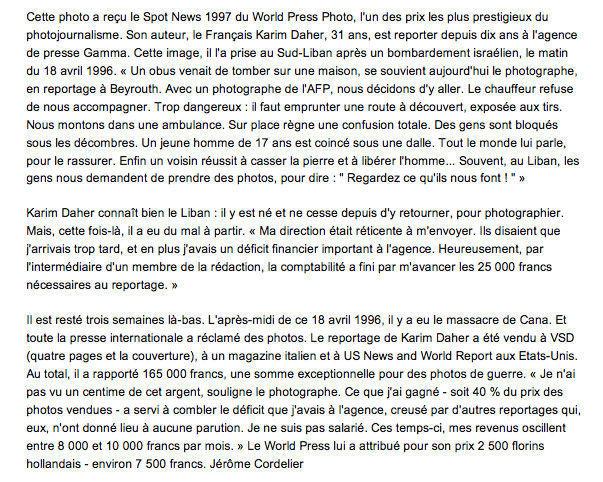 """In """"Le Point"""", Septembre 1997, extrait d'un article de Jérôme Cordelier."""